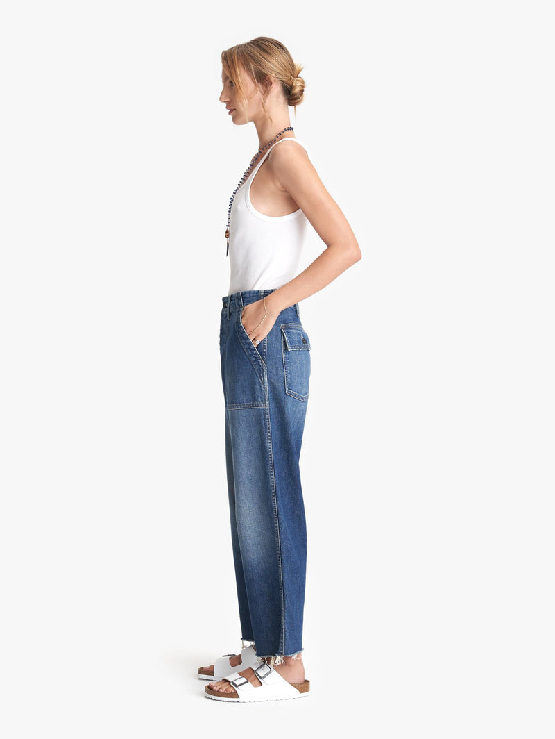 Mother Patch Pocket Private Ankle Fray Jeans