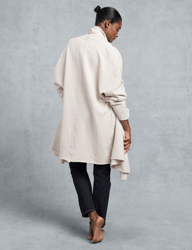 Tee Lab Irish Oatmeal Cream Drape Coat