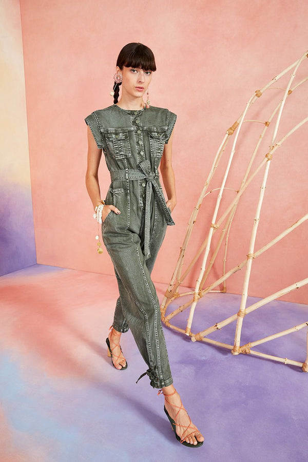 Ulla Johnson Adair Jumpsuit Army Green