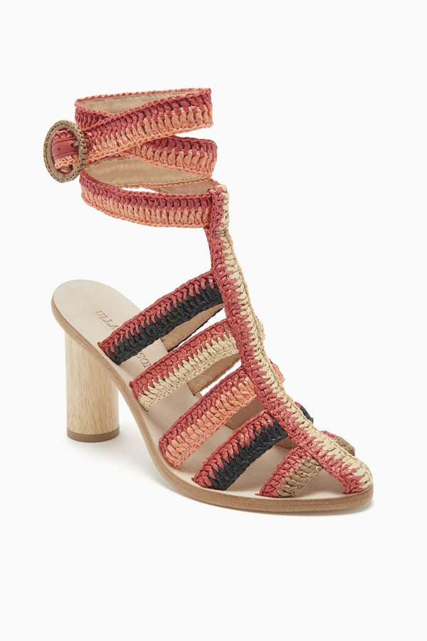 Ulla Johnson Katya Heel Sandal Poppy
