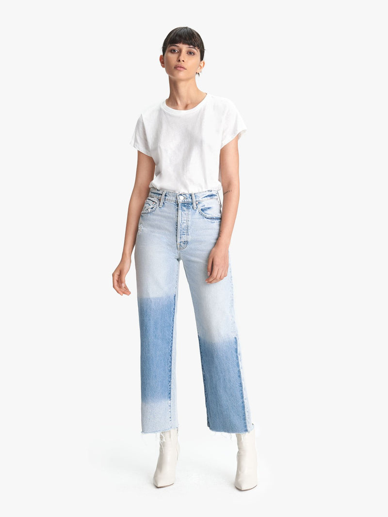 Mother Denim Rambler Ankle Fray Jeans