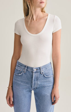 Short Sleeve Rib Bodysuit