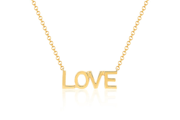 14k Mini Gold Love Necklace