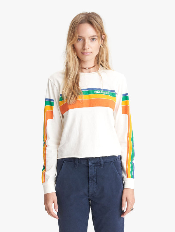 Long Sleeve Slouchie Rainbow Top