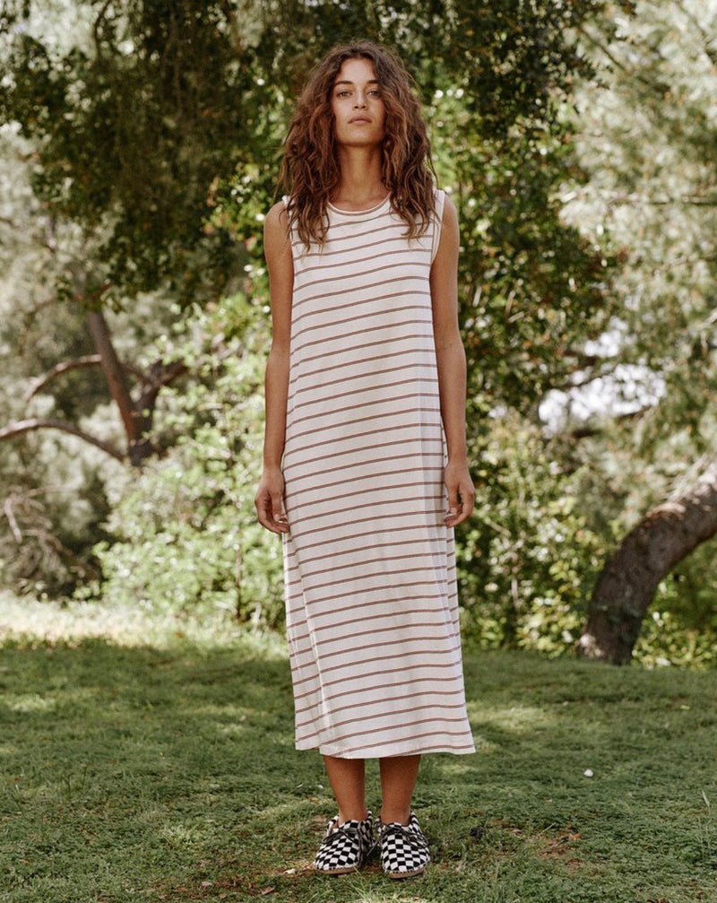 Skinny Stripe Sleeveless Dress