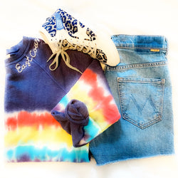 "Tie Dye Rainbow ""East Coast"" Sweatshirt"