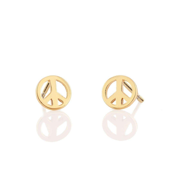 Peace Sign Stud Earring