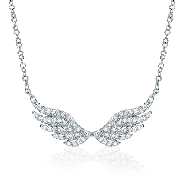Diamond Angel Wings Necklace