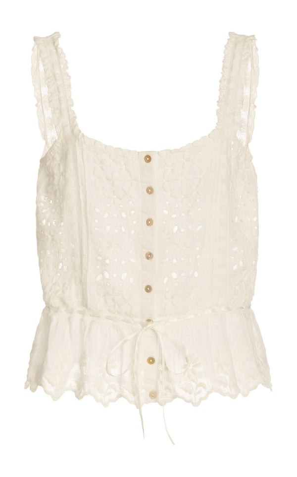 Luanne Broderie Anglaise Cotton Top
