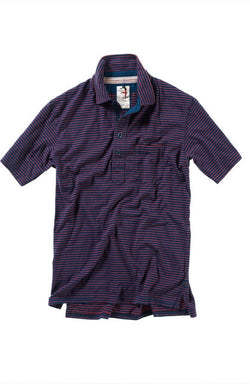 Jersey Finespun Stripe Polo