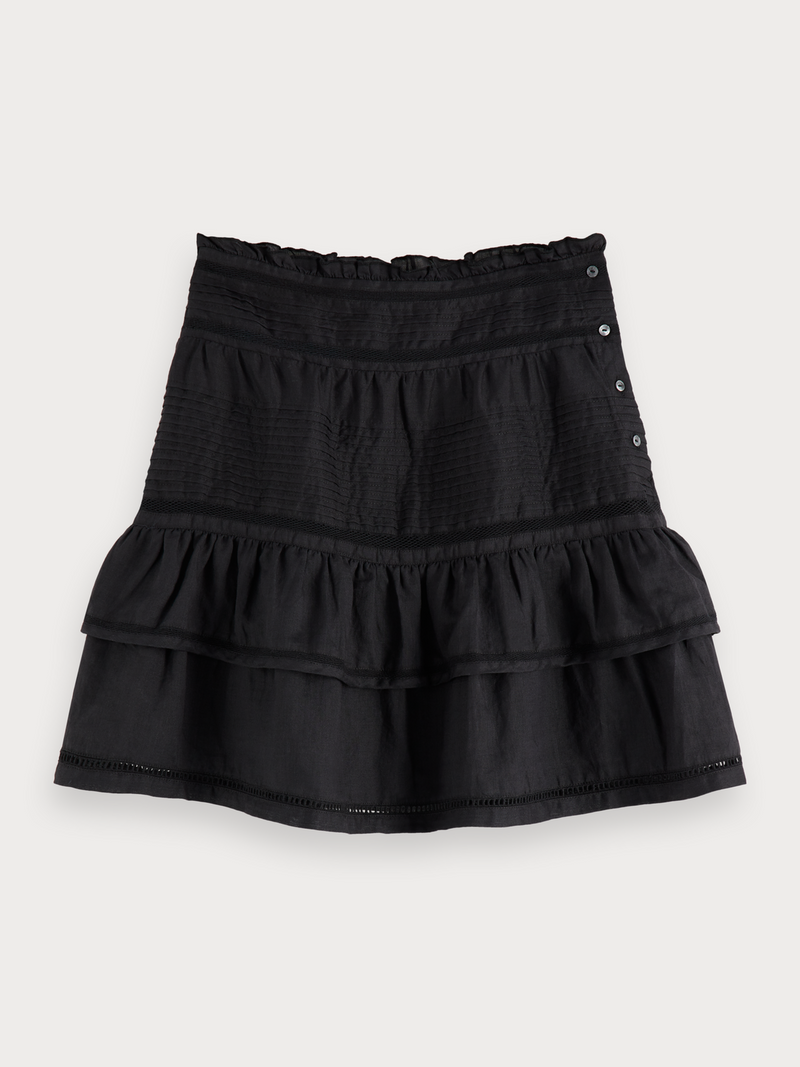 Ruffled Ramie Skirt