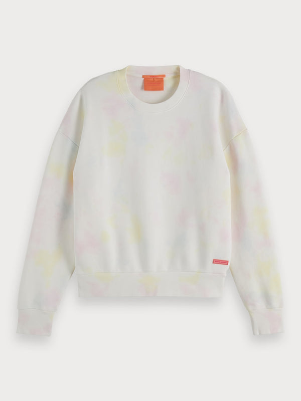 Tie Dye Dropped Shoulder Sweatshirt