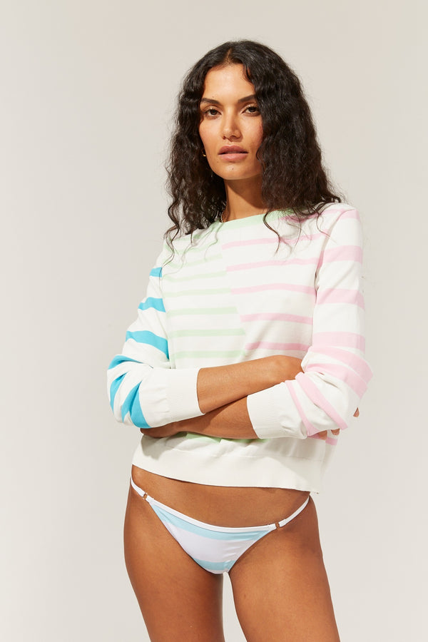 The Mackenzie Colorblocked Stripe Pullover Sweater