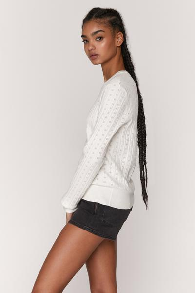 Nikki Pointelle Sweater