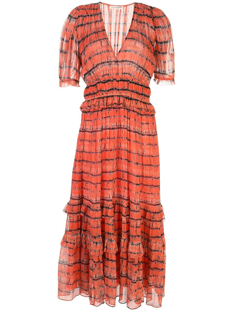 Elodie Tie-Dye Silk Midi Dress