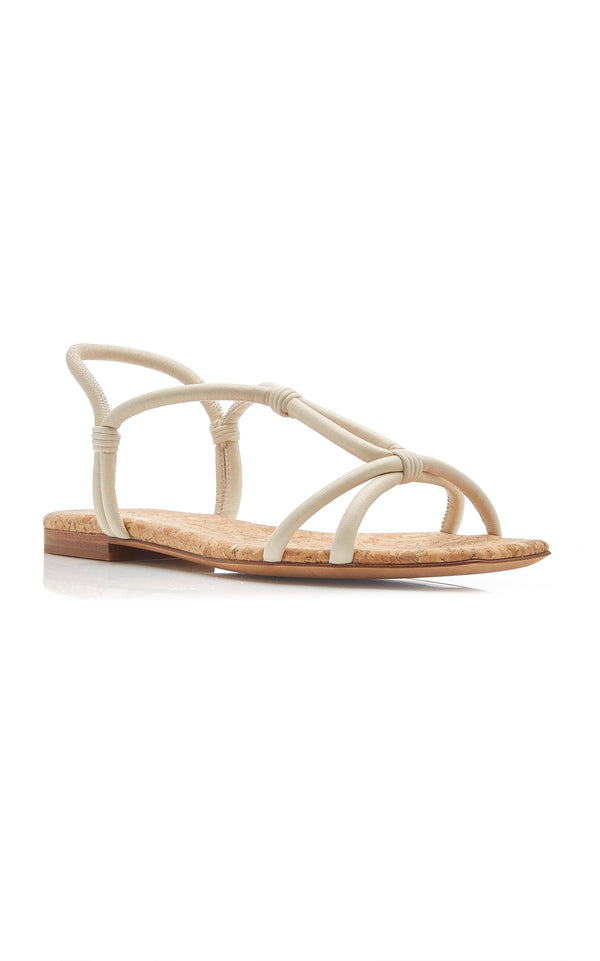 Hazen Leather Flat Sandals