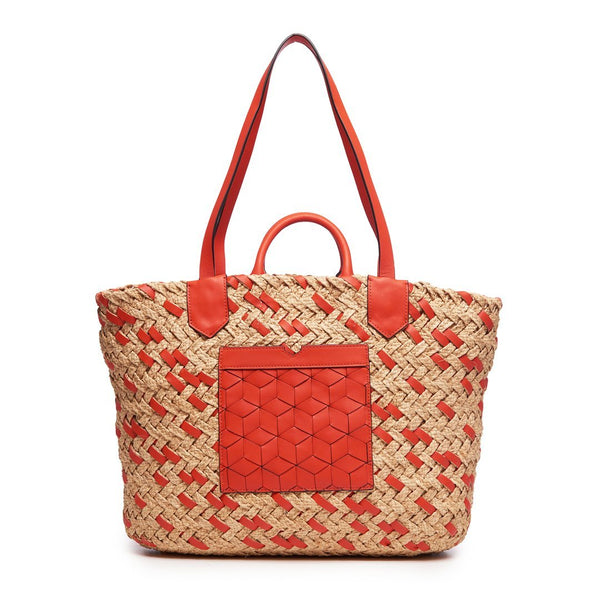 Welden Plage Woven Tote Mandarin Orange