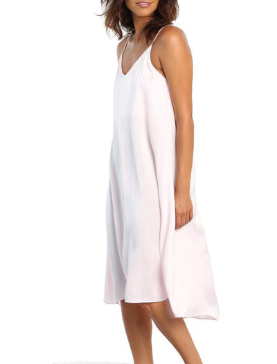 Pure Silk Slip Nightie in Ice Pink