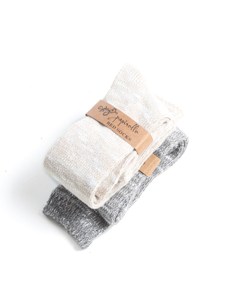 Soft Knit Bed Socks in Oatmeal
