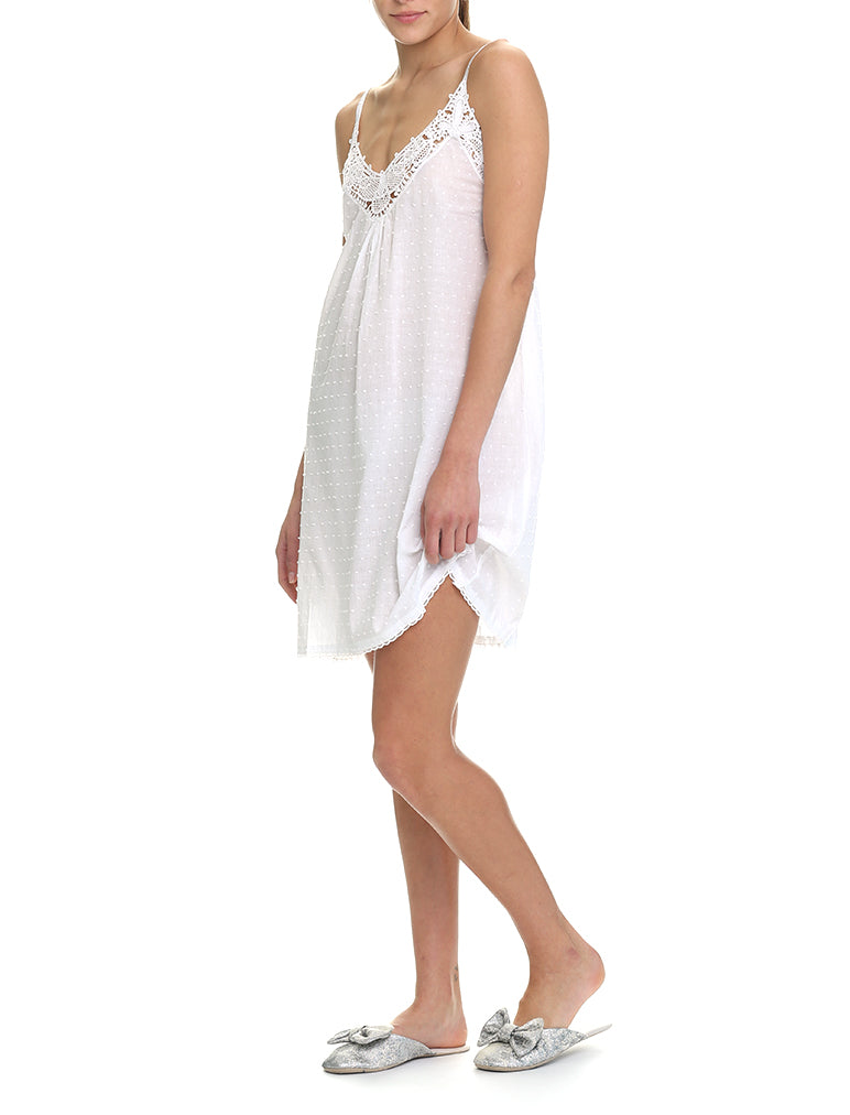 Swiss Dot White Nightie