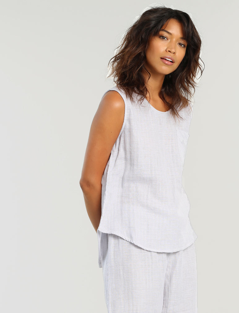 Organic Cotton Stripe Camisole