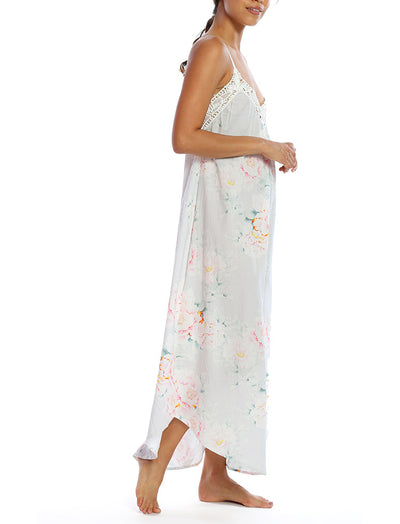 Adele Blue Maxi Nightie