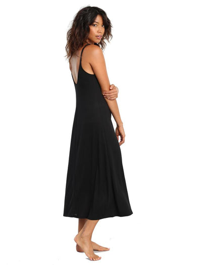 Basic Maxi Knit Nightie in Black