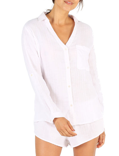 Organic Cotton Blush PJ Top