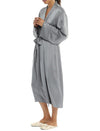 Charcoal Silk Long Robe