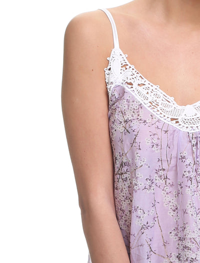 cherry blossom lilac camisole close up