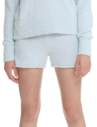 Cozy Knit Boxer in Powder Blue