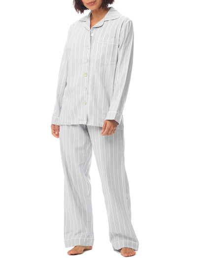 Dusty Blue Stripe PJ Set