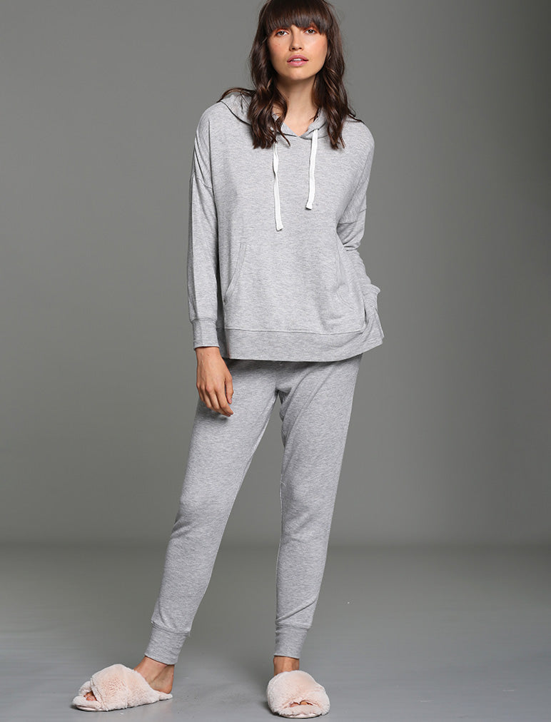 Feather Soft Hoodie in Grey