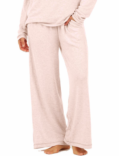 Feather Soft Wide Leg Pant, Light Pink