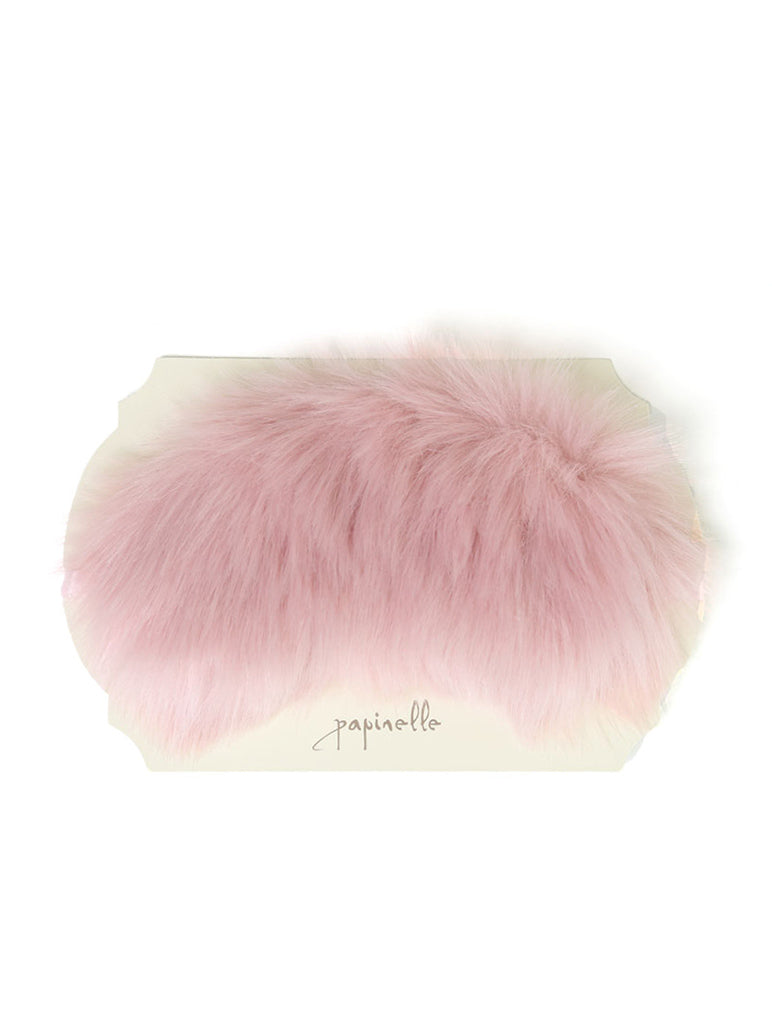 Fluffy Eye Mask in Musk Pink