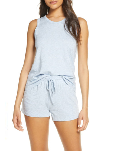 Gemma Spot Boxer PJ Set in Pale Blue