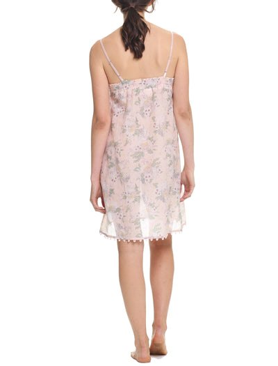 Gess Floral Short Lace Front Nightie