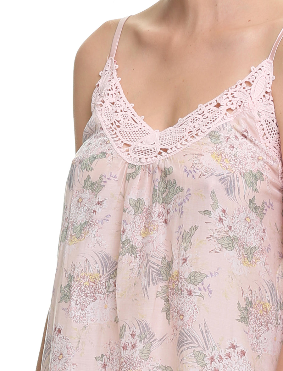 Gess Floral Short Lace Front Nightie , Floral
