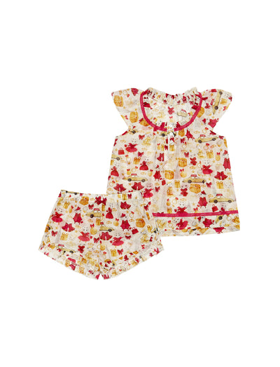 Kids Claris the Mouse Christmas PJ Set