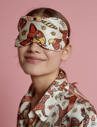 Karen Walker Animal Magic Boxed Silk Eye Mask