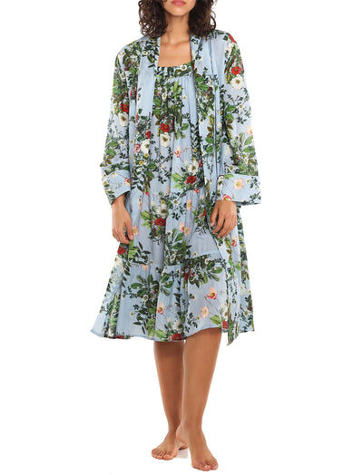 Karen Walker Love Letter Blue Floral Robe
