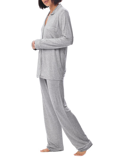Modal Kate PJ Set, Light Grey
