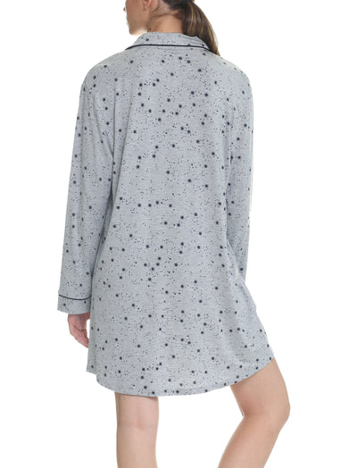 Modal Soft Kate Nightshirt in Grey Stars