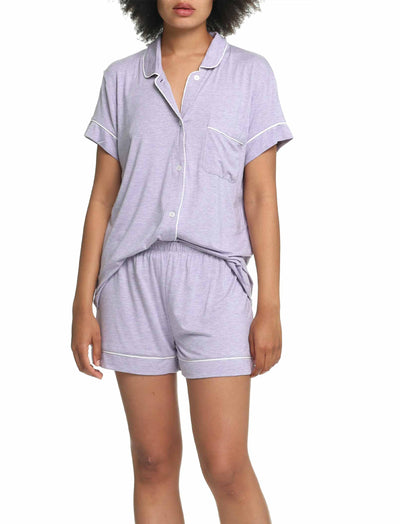 Modal Soft Kate Boxer PJ in Lilac