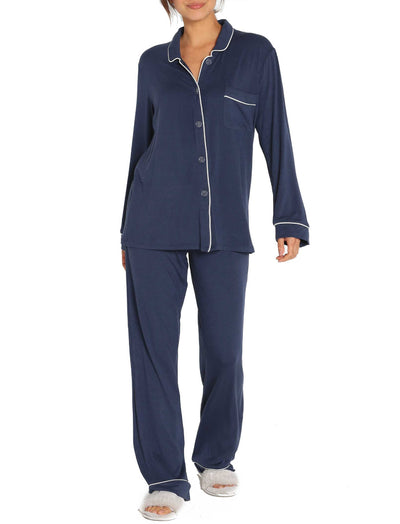 Modal Kate PJ Set in Navy Melange