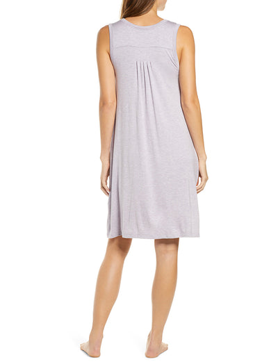 Modal Soft Pleat Front Nightie, Lilac