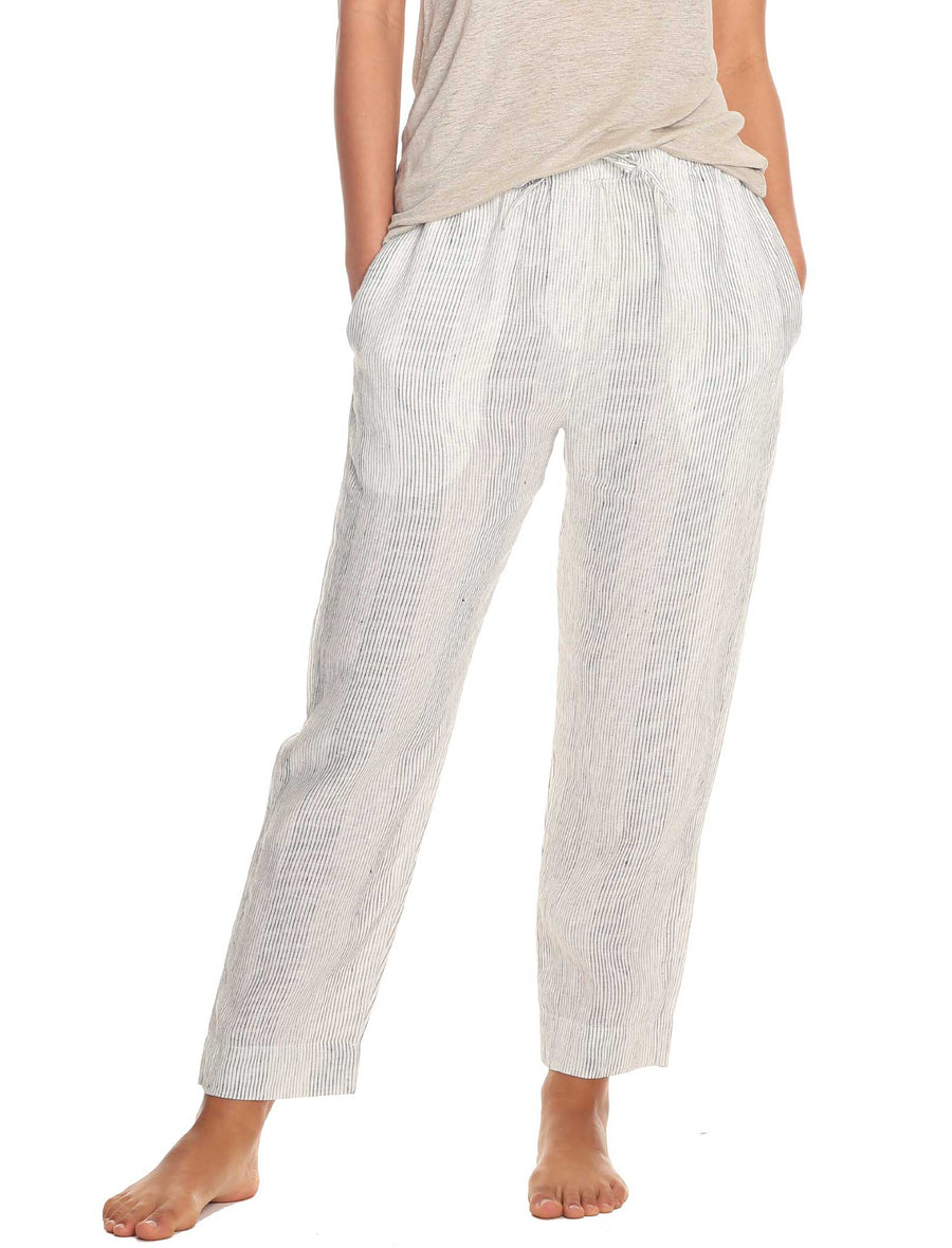 Resort Linen Stripe Pants