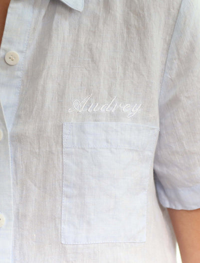 Resort Linen Shirt in Sky Blue