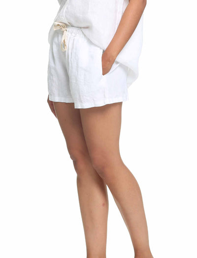 Resort Linen Boxer in White