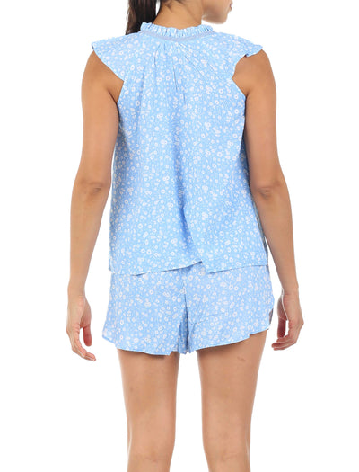 Mathilda Blue Flutter Cami and Boxer Set